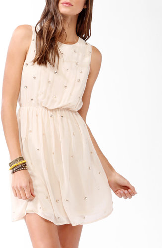 FOREVER 21 Bejeweled Blouson Dress