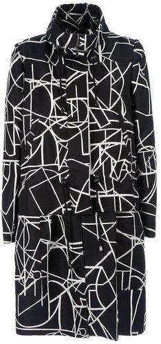 Oscar De La Renta printed silk coat
