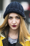 Berry lips, like Elisa Baudoin sported here, are the perfect way to take your look from Fall to Spring. Source: Le 21ème | Adam Katz Sinding