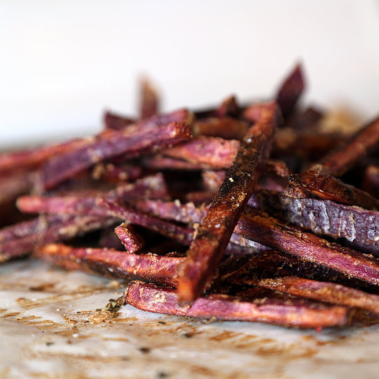 Baked Purple Sweet Potato French Fries