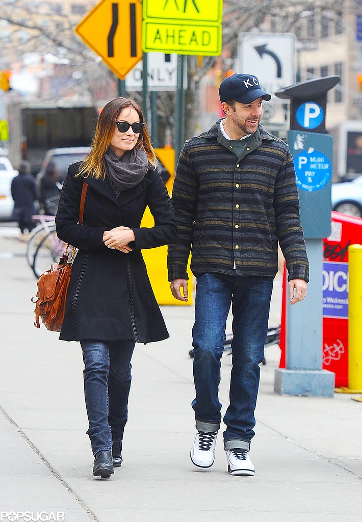 Olivia Wilde and Jason Sudeikis walked together in NYC.
