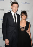 Lea Michele and boyfriend Cory Monteith had a date night at PaleyFest in LA.