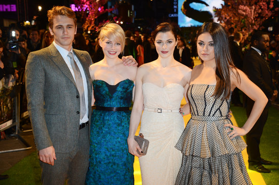 James Franco, Michelle Williams, Rachel Weisz, and Mila Kunis stepped out for the UK premiere of Oz the Great and Powerful.
