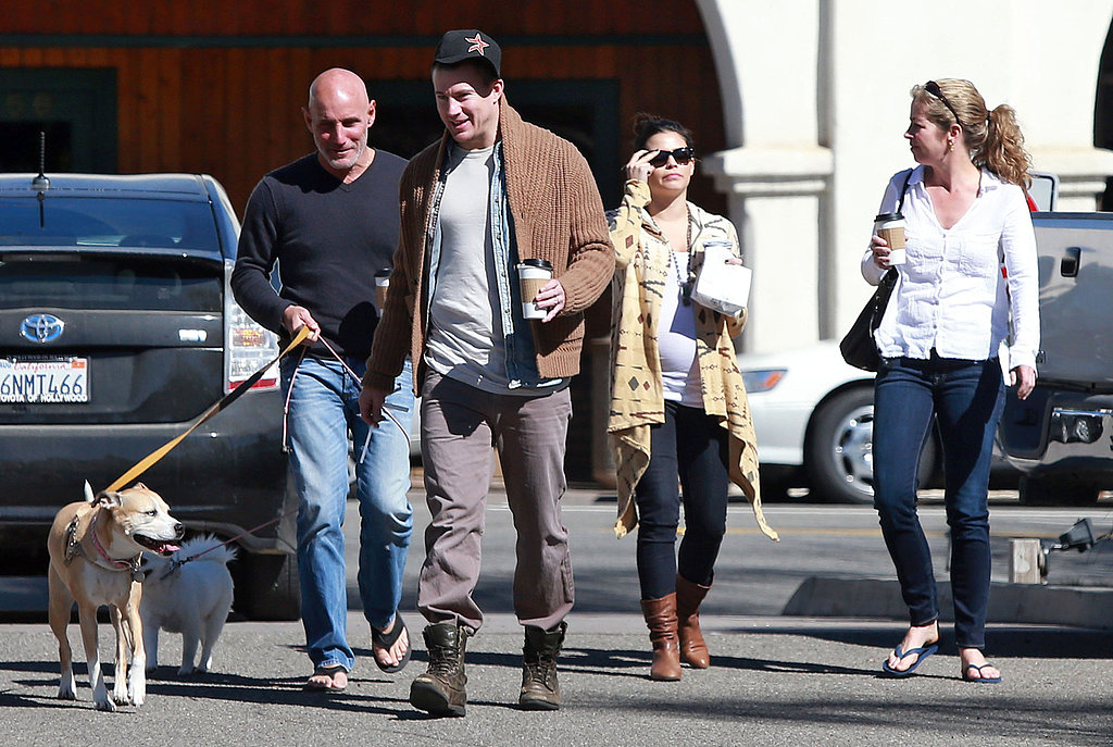 Channing Tatum and Jenna Dewan went on a Santa Barbara outing with friends and their dogs.