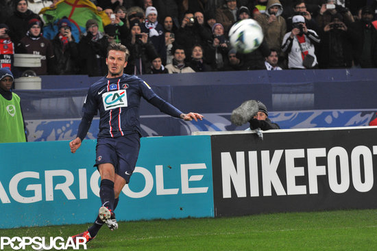 David Beckham hit the field in Paris.
