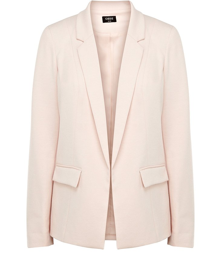 Swap out your basic black blazer for Oasis's pale blush ponte jacket ($72) for an instant Spring update.