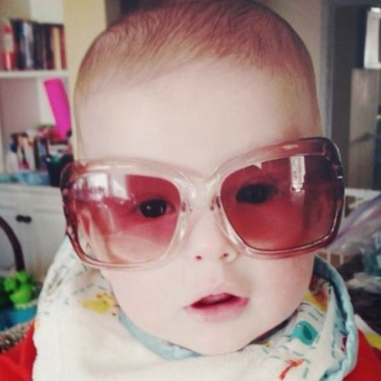 Finn McDermott did his best impression of Bono in his mama's sunglasses. Source: Instagram user torianddean .