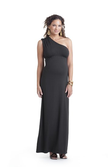 Asymmetrical Maternity Dress ($70)