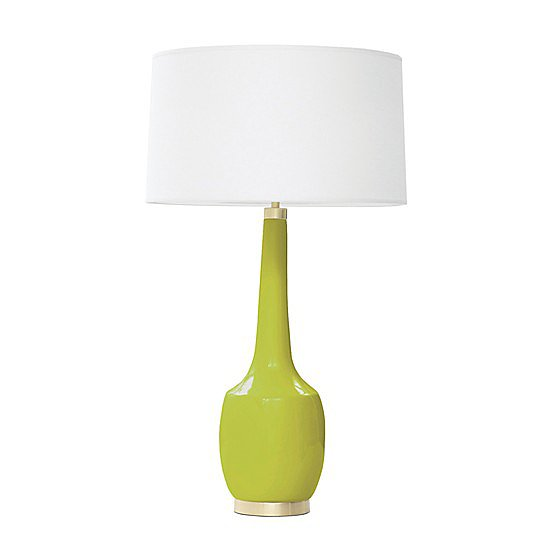 Use this ceramic lamp ($535) to add a contemporary touch to a side table.