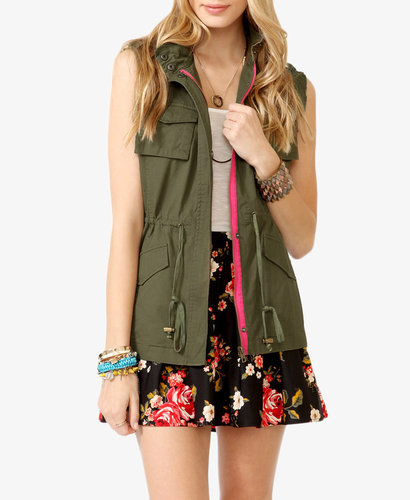 FOREVER 21 Frayed Utility Vest