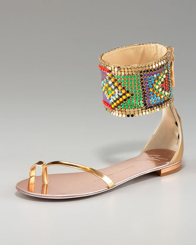 Shaniece Hairston Tribal Print Cuff Flats