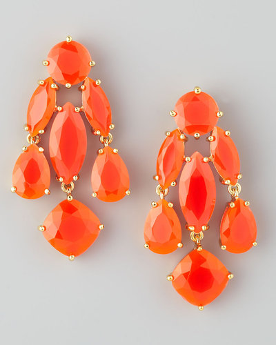 Kate Spade New York Statement Crystal Earrings, Coral