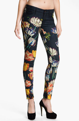 MOTHER &#039;The Looker&#039; Print Skinny Jeans (Kissed Me Floral)