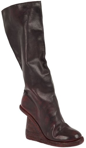 Guidi cut-out wedge boot