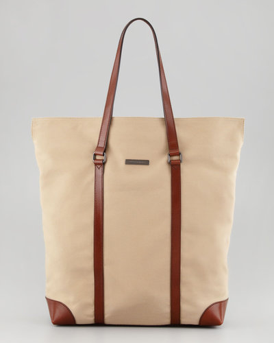 Burberry Men&#039;s North-South Twill Tote Bag
