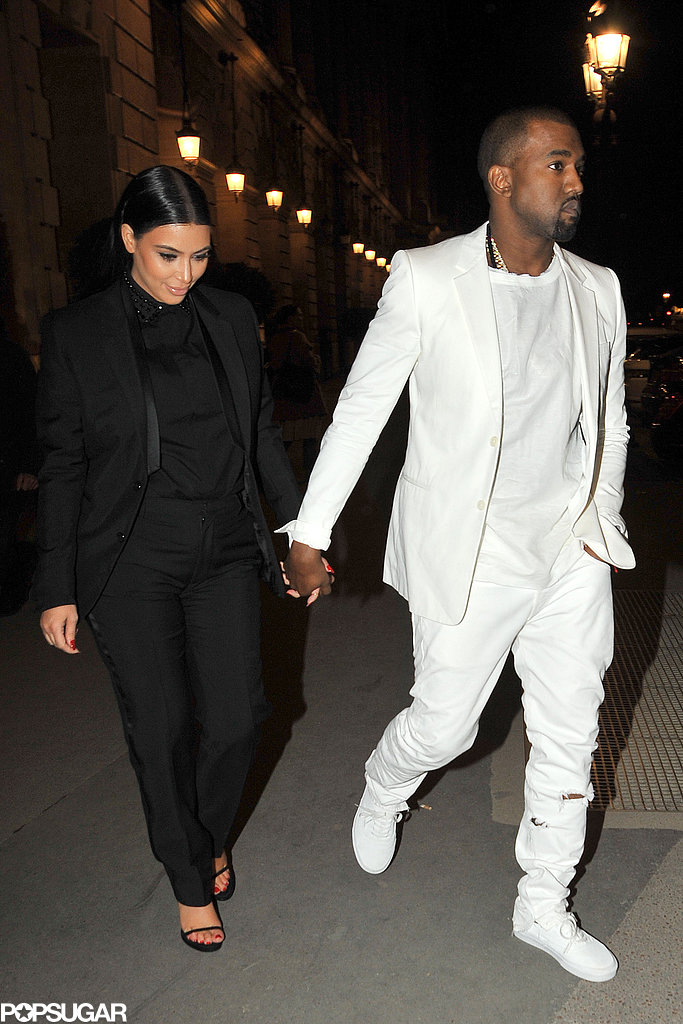 Kim Kardashian and Kanye West stepped out in Paris.