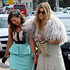 Pregnant Fergie at Her Sister's Bridal Shower in LA