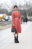 Hanneli Mustaparta showed off a gorgeous coat and statement-making footwear. Source: Le 21ème | Adam Katz Sinding