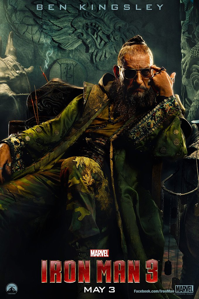 Ben Kingsley stars as new villain The Mandarin.