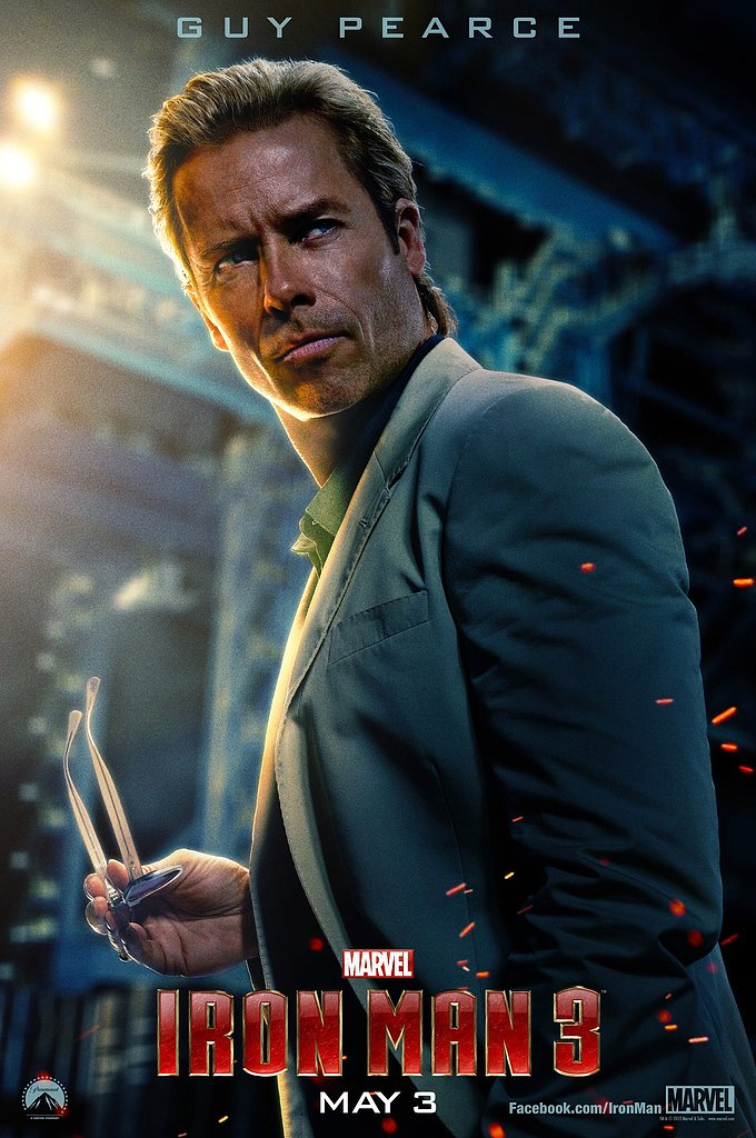 Guy Pearce joins the cast as Aldrich Killian.