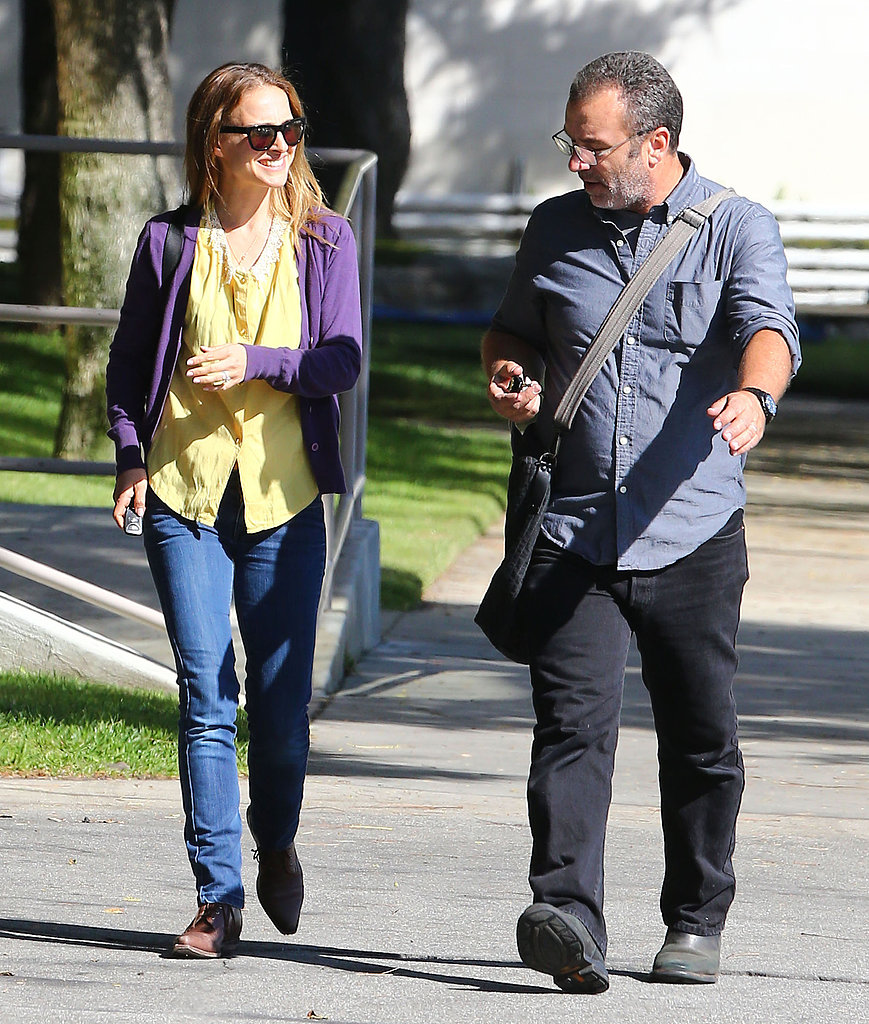Natalie Portman wore a bright yellow top.