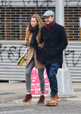 Justin Timberlake smiled as he walked with wife Jessica Biel in NYC in February.