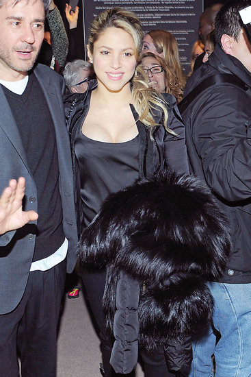 Shakira glowed while out in Barcelona on Thursday night.