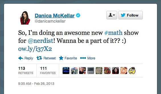 Actress Danica McKellar, one of our favorite actresses in STEM, is joining the Nerdist YouTube Channel family.