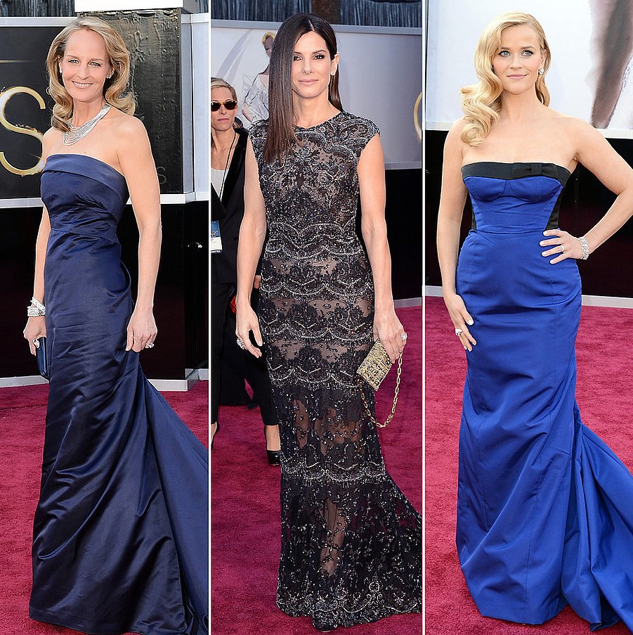 Some of our favorite stars arrived to the awards in black and blue gowns.