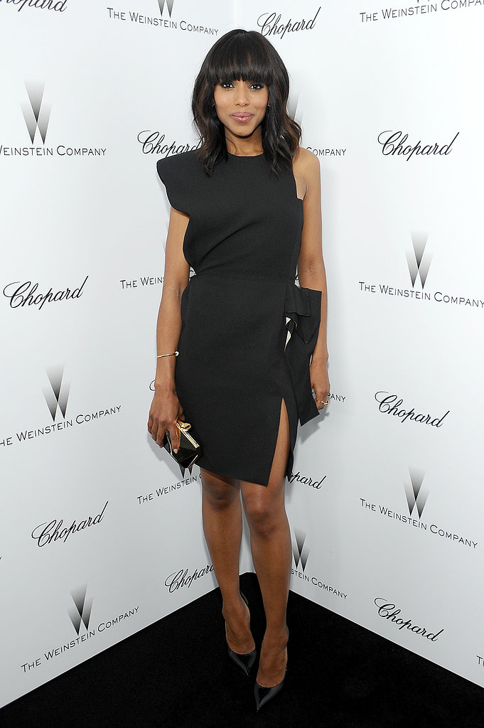 Kerry Washington was minimalist perfection in this Lanvin minidress during Oscar weekend's Weinstein Company Academy Awards party.
