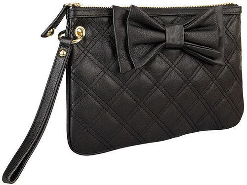 Betsey Johnson Handbags Double The Love Wristlet, Black 1 ea