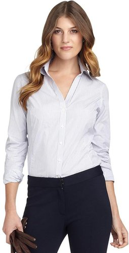Luxury Fitted Stripe Dress Shirt