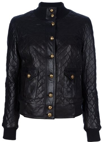 Le Sentier Quilted leather jacket