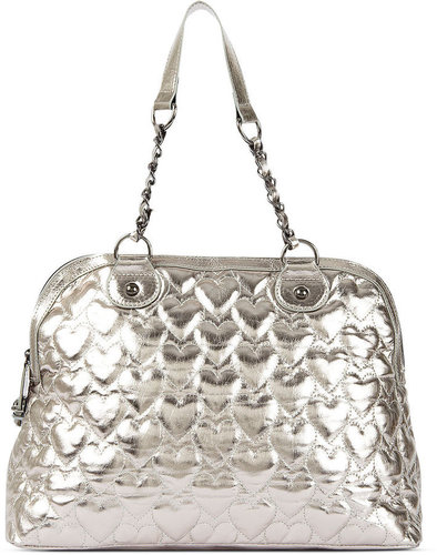Betsey Johnson Handbag, Yours Mine & Ours Dome Satchel