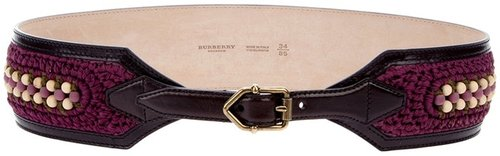 Burberry Prorsum woven detail belt