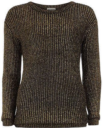 Black and gold oversized jumper