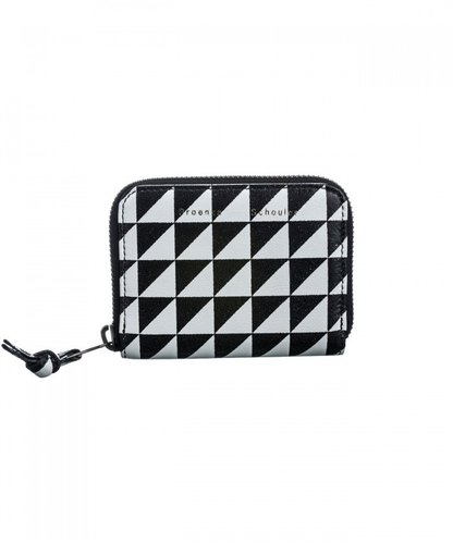 Proenza Schouler Zip Card Wallet Triangle Print