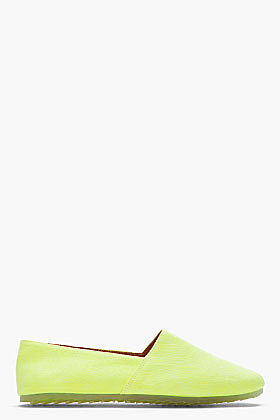 MM6 MAISON MARTIN MARGIELA Neon yellow Slip Ons