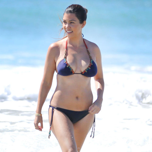 Kourtney Kardashian Bikini Pictures After Having Penelope