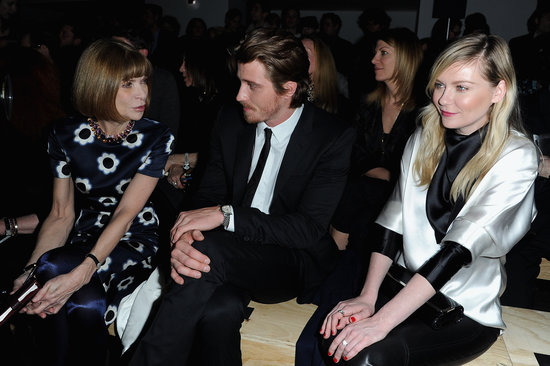 Garrett Hedlund and Kirsten Dunst sat front row with Anna Wintour.