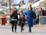 Jessica Alba and a friend took Honor to an amusement park in Paris on Sunday.