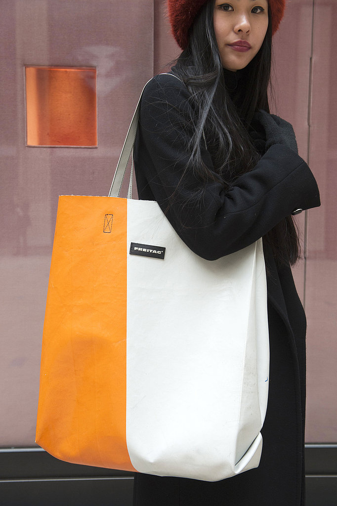 We love the sporty colorblocked detail on this massive tote.