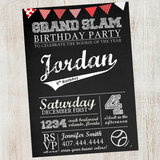 Chalkboard Vintage Party Invitation
