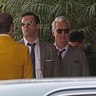 Jon Hamm Filming Mad Men in LA