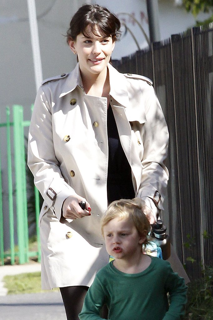 Liv Tyler hung out with son Milo Langdon in LA on St. Patrick's Day in March 2009.