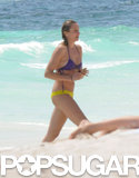 Cameron Diaz worked a colorful bikini on the beach in Mexico on Tuesday.