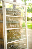 A vintage window was a creative (and inexpensive) way to display the menu. Photo courtesy of Juliette Tinnus