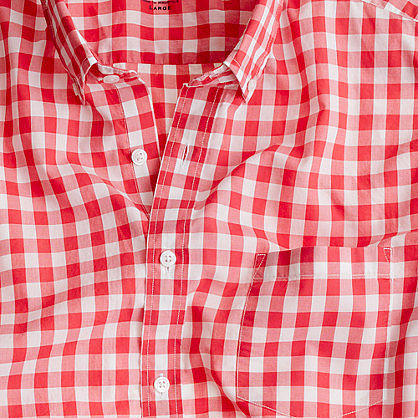 Secret Wash lightweight shirt in Van Buren gingham