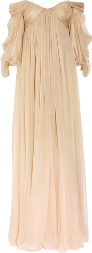 Alexander McQueen Degrad silk-chiffon gown