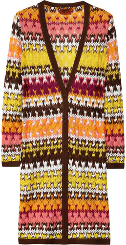 Missoni Evelyn crochet-knit long cardigan